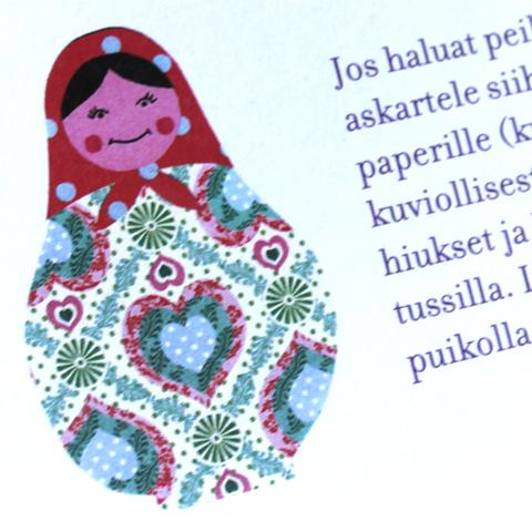 Kuva Aija Rouhiaisien kirjasta Haravasta tavara.