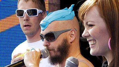 2008 Marja juonsi YleX Kaisaniemi Pop -konsertin. Kuva: YLE, Heli Sorjonen