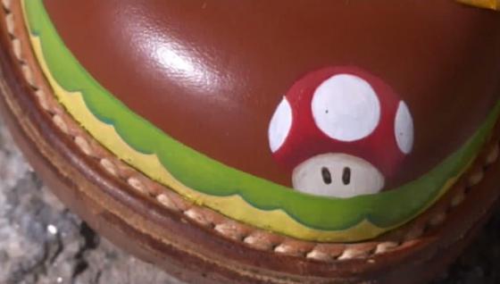 Super Mariosta tuttu sieni kengän kärjessä!