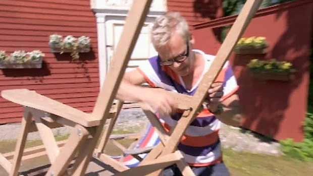 Tukholman-tuoli - strömsöläinen aurinkotuoli Jimin ohjeella. Kuva: Strömsö, Yle