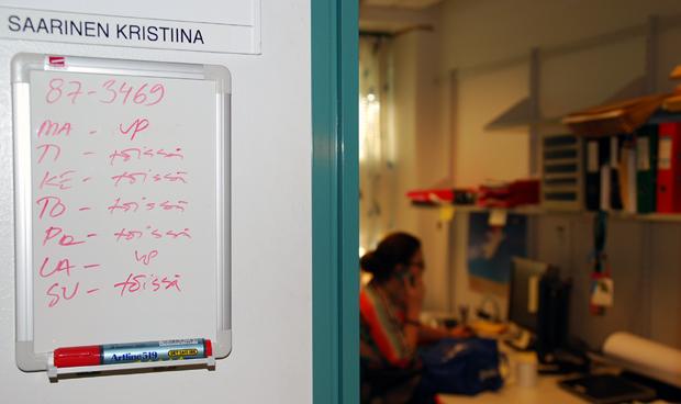 DocVentures on Kristiinan työtä. Kuva: Anni Alatalo, Yle Olotila.