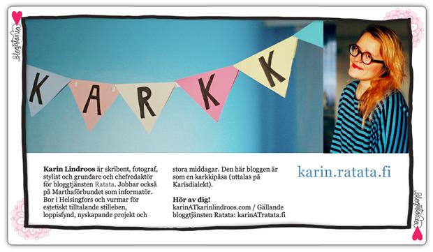 Karkki-blogi2. Kuva: Karin Lindroos. Ad: Riikka Kurki
