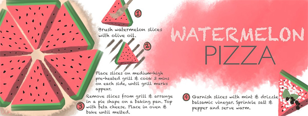 Watermelon Pizza by Danielle Cafiero, They Draw and Cook