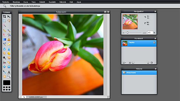 Ilmainen kuvankäsittelyohjelma netissä