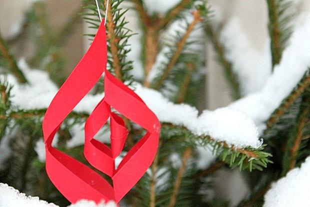 Tee itse paperisia joulukoristeita. Kuva: Ulla Vuorela