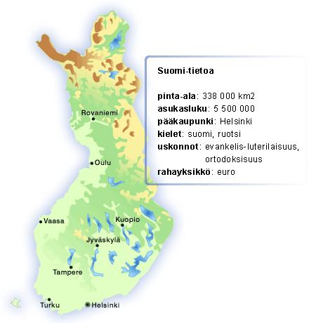 Suomi Kartta Ja Elaimet Lekolar Suomi